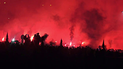Spain: Fandom flares greet Atletico bus as team arrives for Liverpool UCL clash