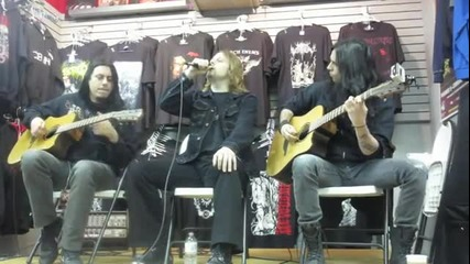 Firewind Acoustic session feat Gus G - Scrape Records Meet and Greet