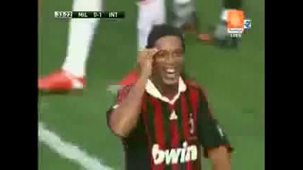 ( Ronaldinho) Излагациа :д Садията Показва Първо Червеният картон