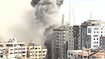 State of Palestine: Israeli air strike flattens building housing Al Jazeera, AP offices in Gaza