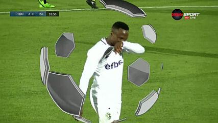 Втори гол за Лудогорец срещу Бачка Топола