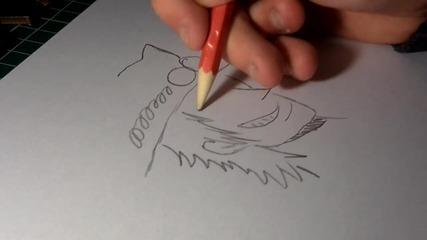 Как да нарисуваме Portgas D. Ace (one Piece)