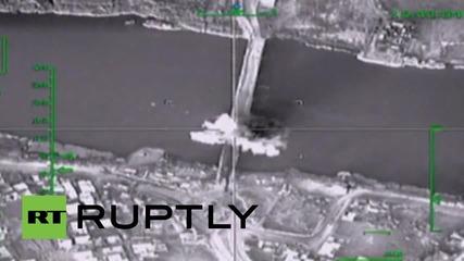Syria: Russian airstrike destroys suspected militant weapon supply bridge