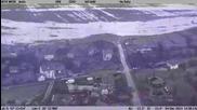 Наводненията в област Ямбол заснети от хеликоптер на гранична полиция