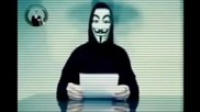Анонимните България - Съобщение за атентатите