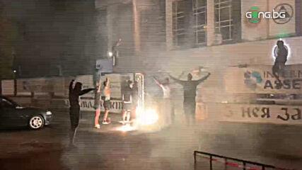 Феновете на Славия празнуват класирането на бараж за ЛЕ