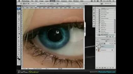Фотошоп уроци!как се сменя цветът на очите!