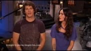 ( Смях ) Megan Fox with Andy Samberg Snl Promo