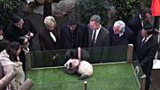 Брижит Макрон стана кръстница на бебе панда