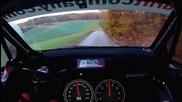 Рали през гората с 200 км/h - Гледка от пилотската кабина!