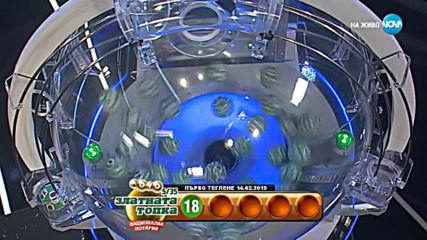"""Теглене на играта Лото 5/35 """"Златната топка"""" - 14.02.2019г."""