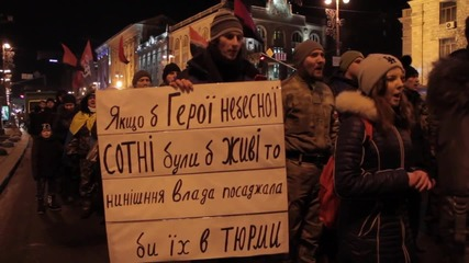 Ukraine: Right Sector march on anniversary of Battle of Kruty
