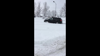 Chevrolet Captiva snow test drive