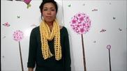Как да си направим шал на една кука (за начинаещи)