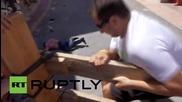 Испания: Двама мъже са ранени при тренировка за надбягването в бикове