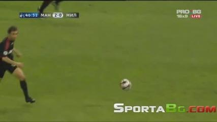 10.03 Разгром!! Всичи голове Манчестър Юнайтед 4:0 Милан (общ резултат 7:2)