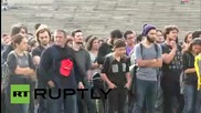 Turkey: Students rally in Ankara in solidarity with bomb attack victims