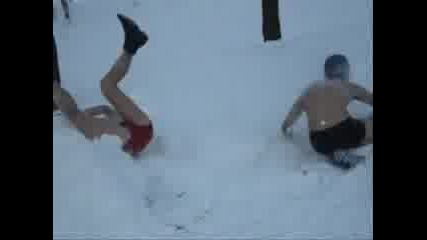 Spartans In Snow