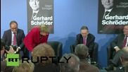 Germany: Angela Merkel presents biography of her predecessor Gerhard Schroder