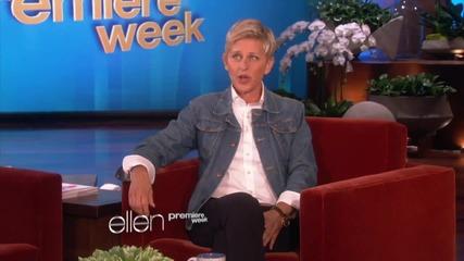 """Елън говори за видеото на """" Wrecking Ball """""""