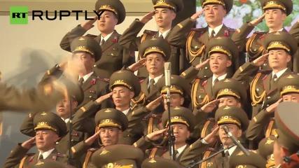 Северно Корейски хор изнесе представление в Москва