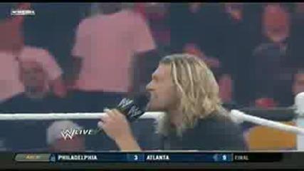 Raw 31 май 2010 ... Edge полудява и пребива Evan Bourne ..