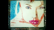 Angelina Jolie Paiting With Lips