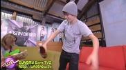 Смях.. Justin Bieber се опръска с някаква фанта.