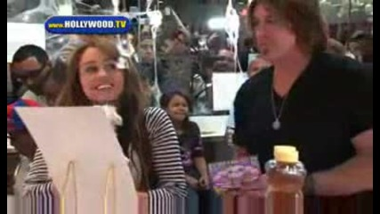 Hannah Montanas Miley Cyrus launches her shake at Millions of Milkshakes