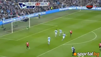 Манчестър Сити - Манчестър Юнайтед 2 - 3 ( Англия, Висша лига (09-12-2012)