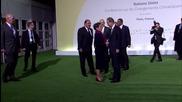 France: Hollande and Ban Ki-moon arrive at UNCOP21