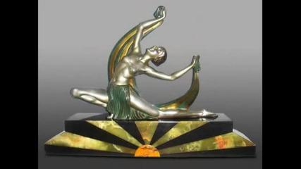 Art Deco' Sculptur Bronze