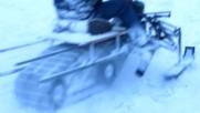 Руснак си направи снегоход от мотор « Иж Планета »
