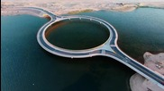 Създадоха уникален кръгъл мост върху лагуна