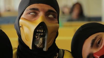 Лудница Mortal Kombat избухват на Gangnam style