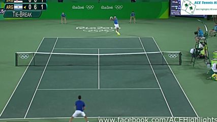 Juan Martin Del Potro vs Novak Djokovic - Rio Olympics 2016 Round 1