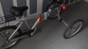 Направи сам стабилна регулируема самонакляща се триколка от стари велосипедни части