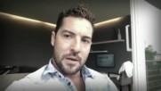 David Bisbal Saludo y planes