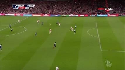 Арсенал - Манчестър Сити 2:0 /първо полувреме/