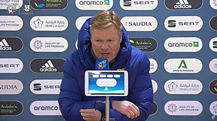 Spain: Koeman says his team is 'sad' and 'disappointed' after losing Super Cup final