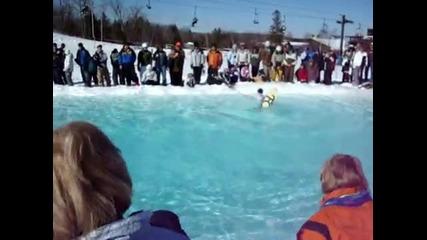 Каране на сноуборд по вода