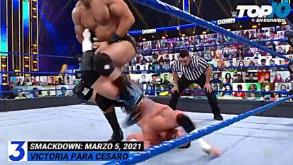 Top 10 Mejores Momentos de SMACKDOWN: WWE Top 10, Mar 5, 2021