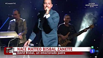 David Bisbal - Un Emocionado Padre / Reportaje Programa Corazon 08.04.2019