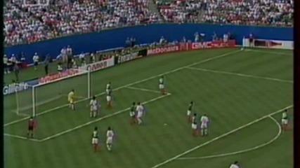 Футбол Мексико - България 1994 - Второ полувреме - Част 3/4 (високо качество)
