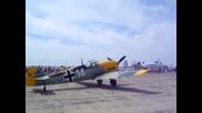 Bf109e4 - запуск на двигател