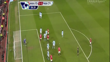 Manchester United Vs Manchester City (1-2) Hd 08.04.2013