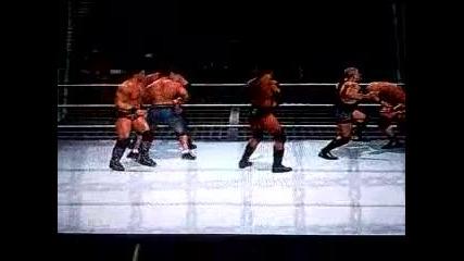 svr 2011 elimination chamber teem Triple H Vs team John Cena