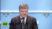 Ukraine: Poroshenko blames Russia's role in Syria for EU's migrant crisis