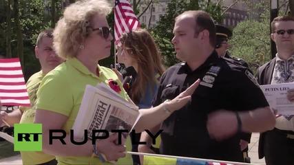 USA: Pro-Kiev protesters disrupt WW2 V-Day ceremony