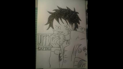 Как да нарисуваме Луфи Военен стил (one Piece)